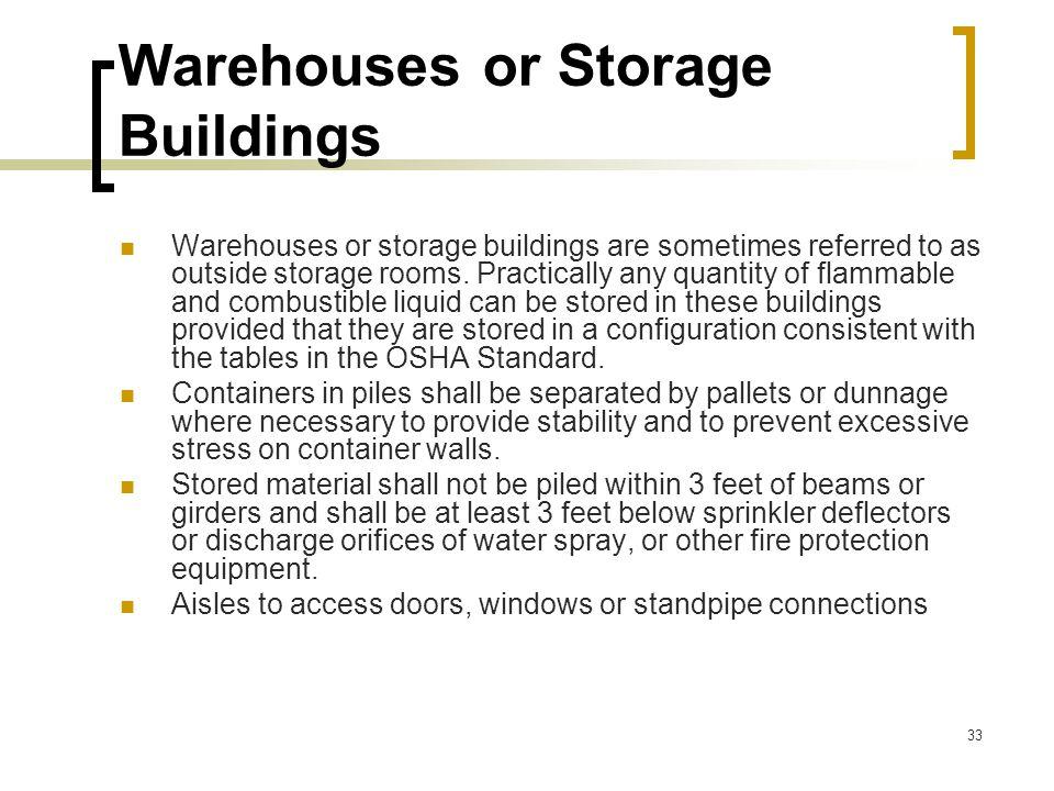 Warehouses or Storage Buildings
