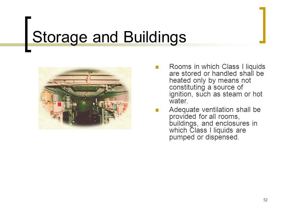 Storage and Buildings