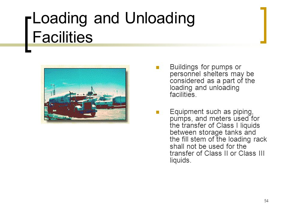 Loading and Unloading Facilities