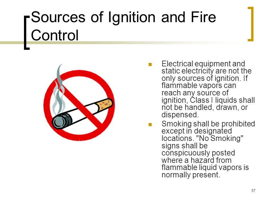 Sources of Ignition and Fire Control