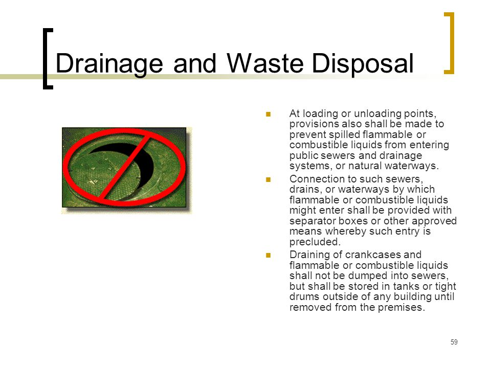 Drainage and Waste Disposal