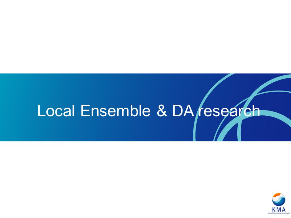 Local Ensemble & DA research
