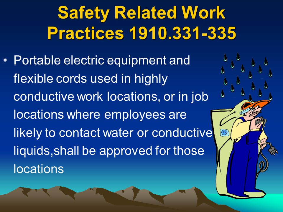 Safety Related Work Practices 1910.331-335
