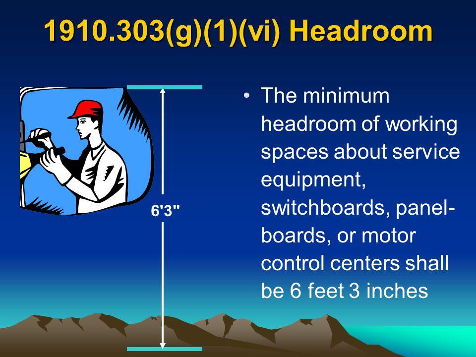 1910.303(g)(1)(vi) Headroom