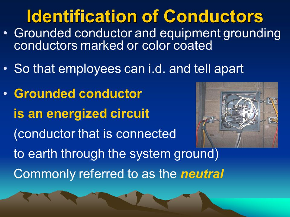 Identification of Conductors