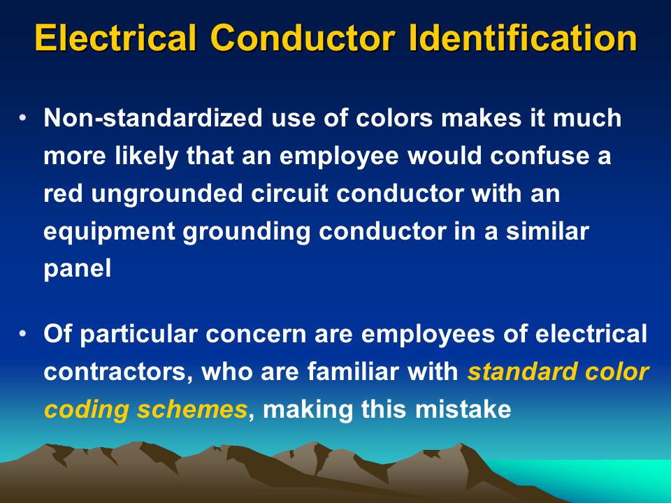 Electrical Conductor Identification