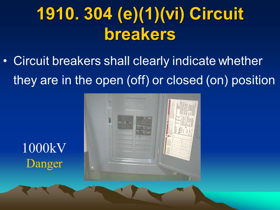 1910. 304 (e)(1)(vi) Circuit breakers