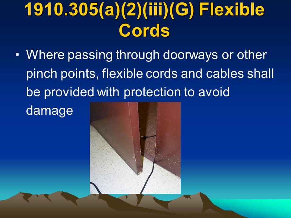 1910.305(a)(2)(iii)(G) Flexible Cords