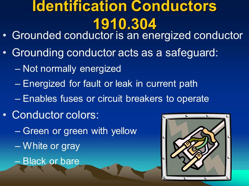 Identification Conductors 1910.304