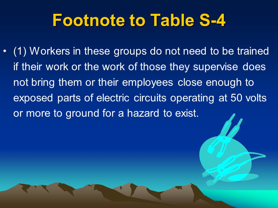 Footnote to Table S-4