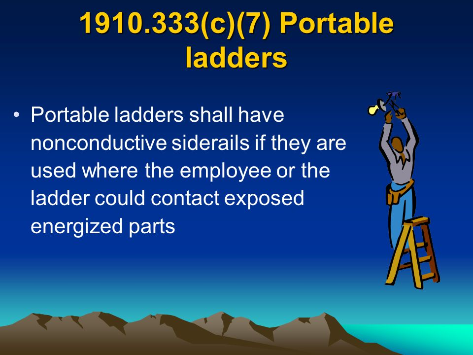 1910.333(c)(7) Portable ladders