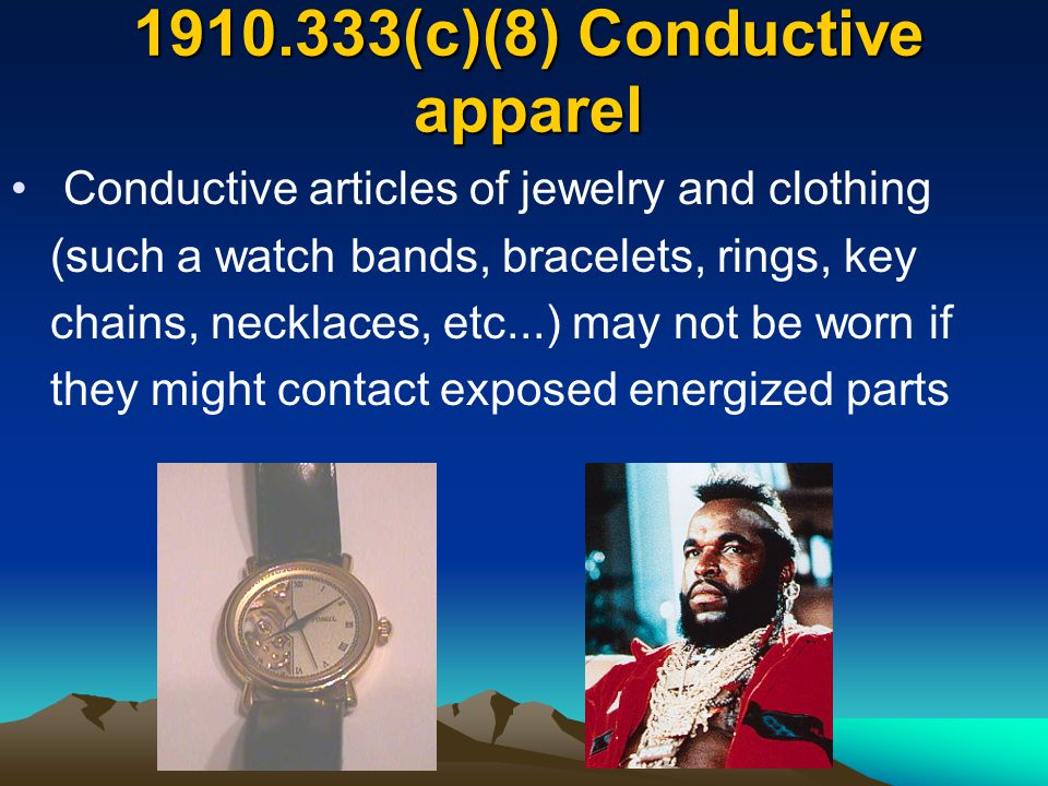 1910.333(c)(8) Conductive apparel