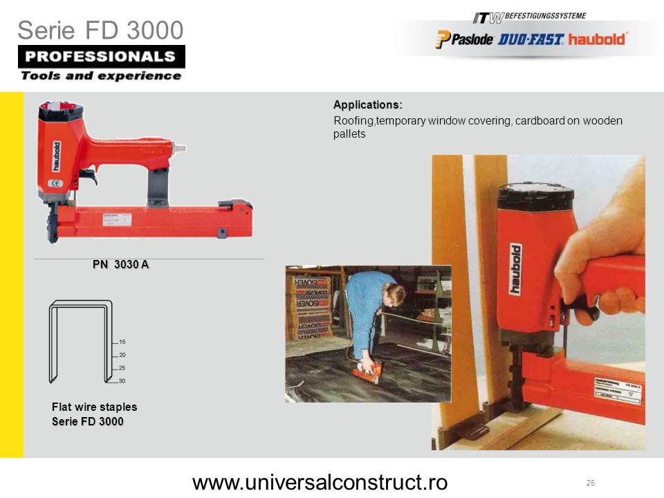 Serie FD 3000 www.universalconstruct.ro Applications: