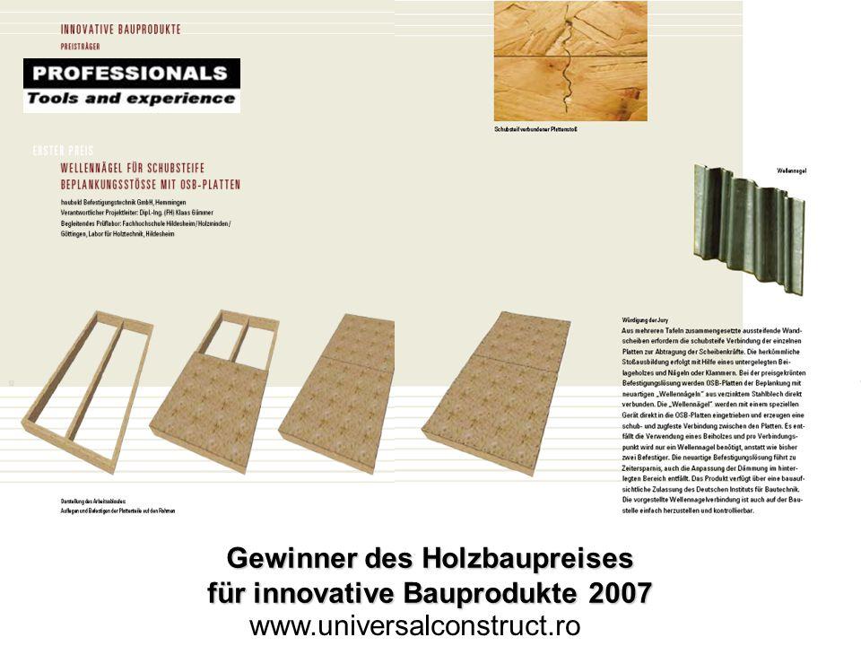 Gewinner des Holzbaupreises für innovative Bauprodukte 2007