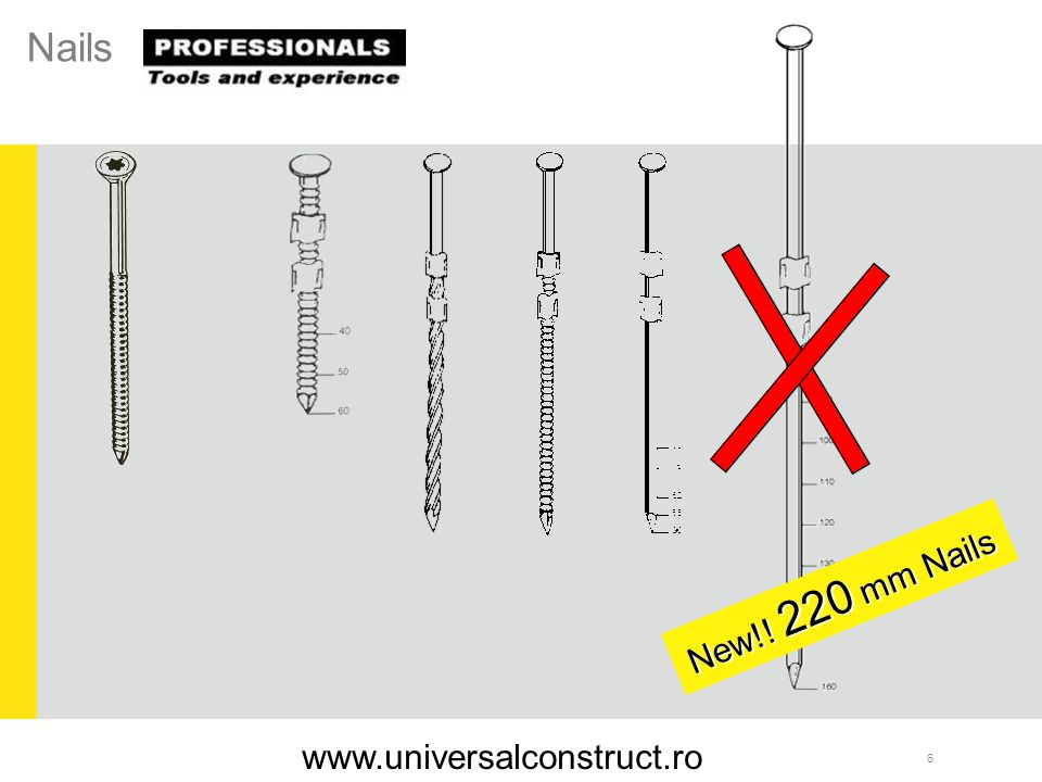 Nails New!! 220 mm Nails www.universalconstruct.ro