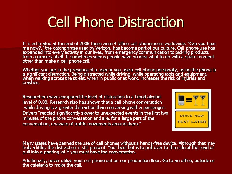Cell Phone Distraction