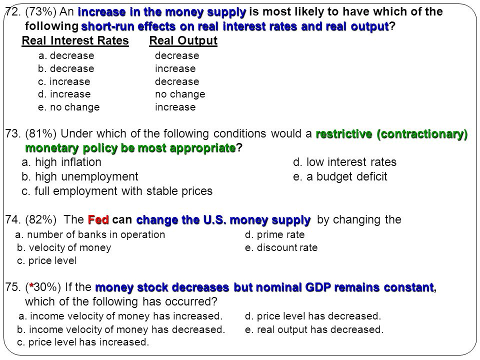 following short-run effects on real interest rates and real output