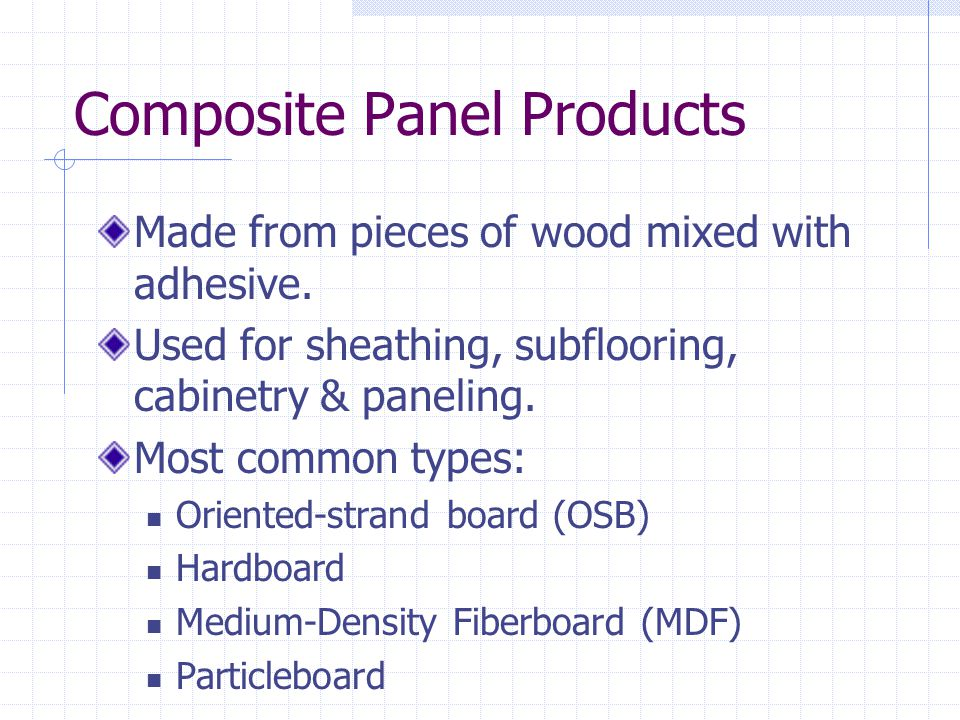 Composite Panel Products