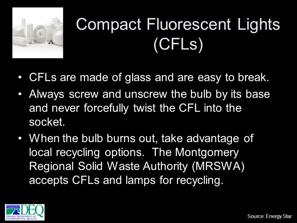 Compact Fluorescent Lights (CFLs)