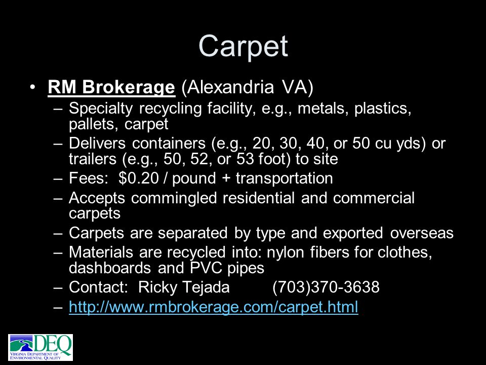 Carpet RM Brokerage (Alexandria VA)
