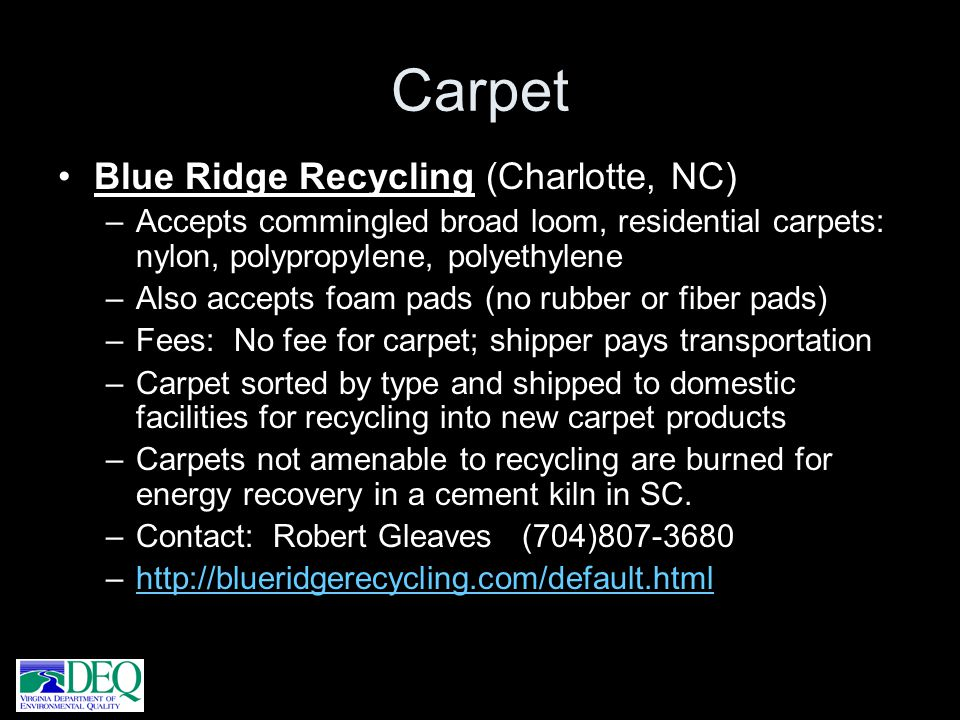 Carpet Blue Ridge Recycling (Charlotte, NC)