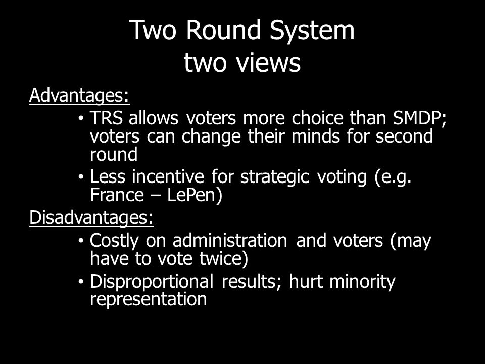 Two Round System two views