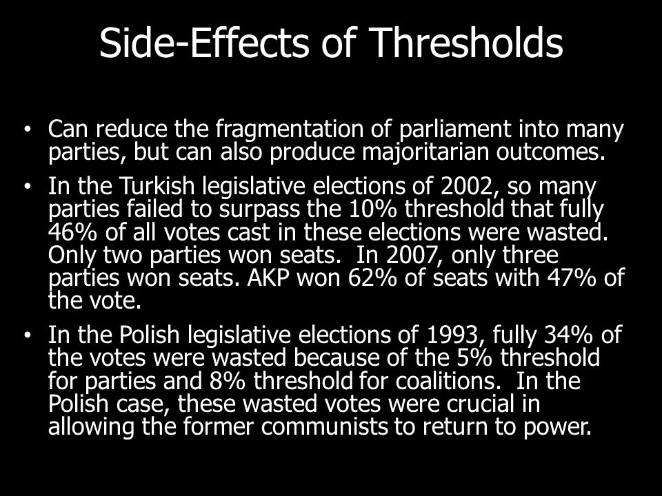 Side-Effects of Thresholds