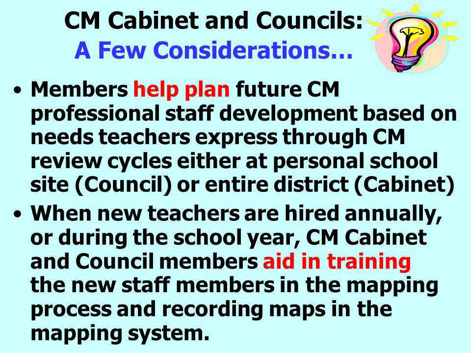 CM Cabinet and Councils: A Few Considerations…