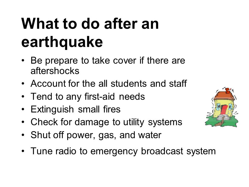 What to do after an earthquake