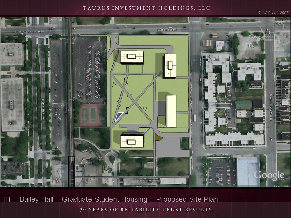 IIT – Bailey Hall – Graduate Student Housing – Proposed Site Plan