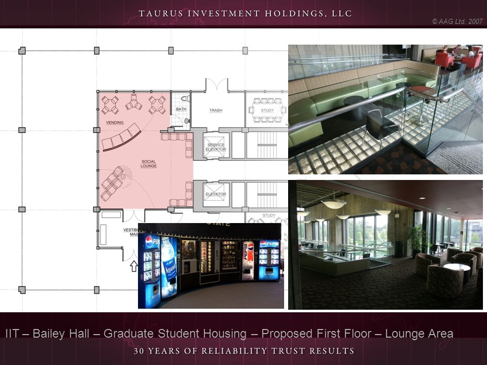 © AAG Ltd. 2007 IIT – Bailey Hall – Graduate Student Housing – Proposed First Floor – Lounge Area