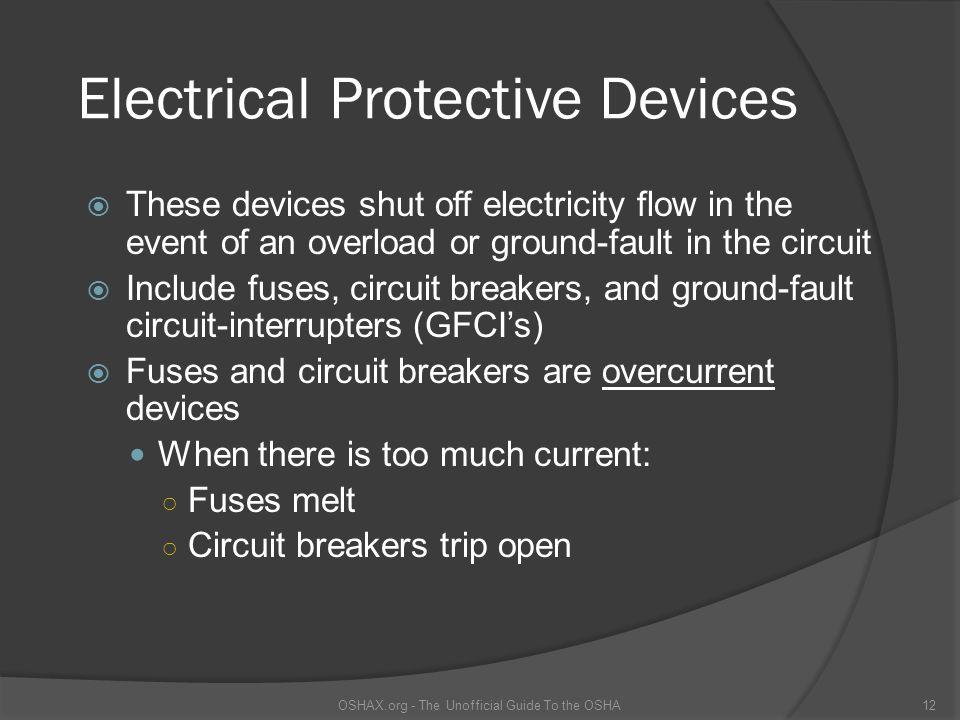Electrical Protective Devices