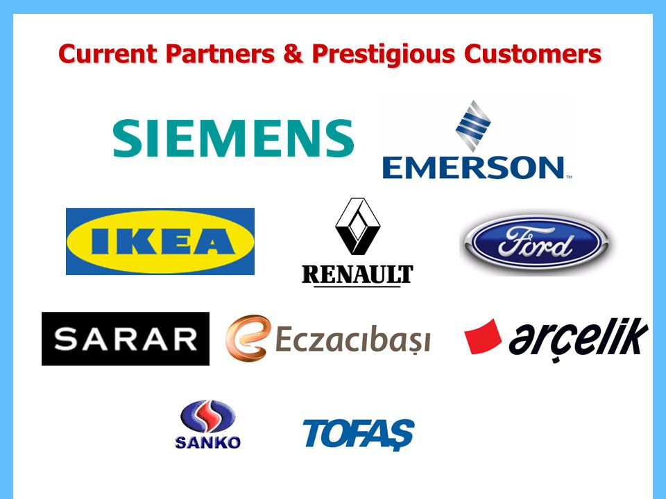Current Partners & Prestigious Customers