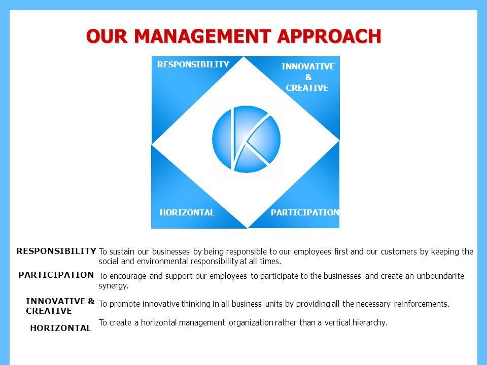 OUR MANAGEMENT APPROACH