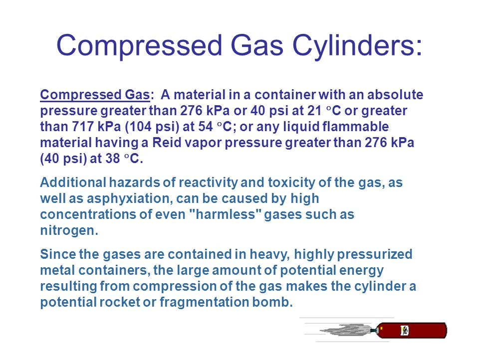 Compressed Gas Cylinders: