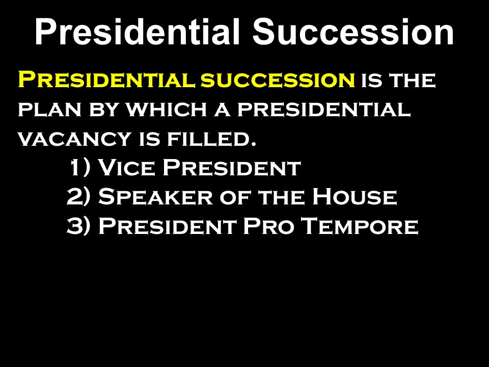 Presidential Succession