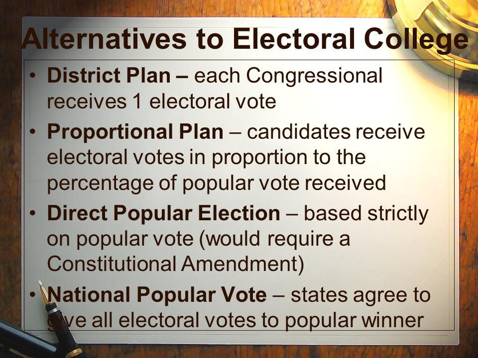 Alternatives to Electoral College