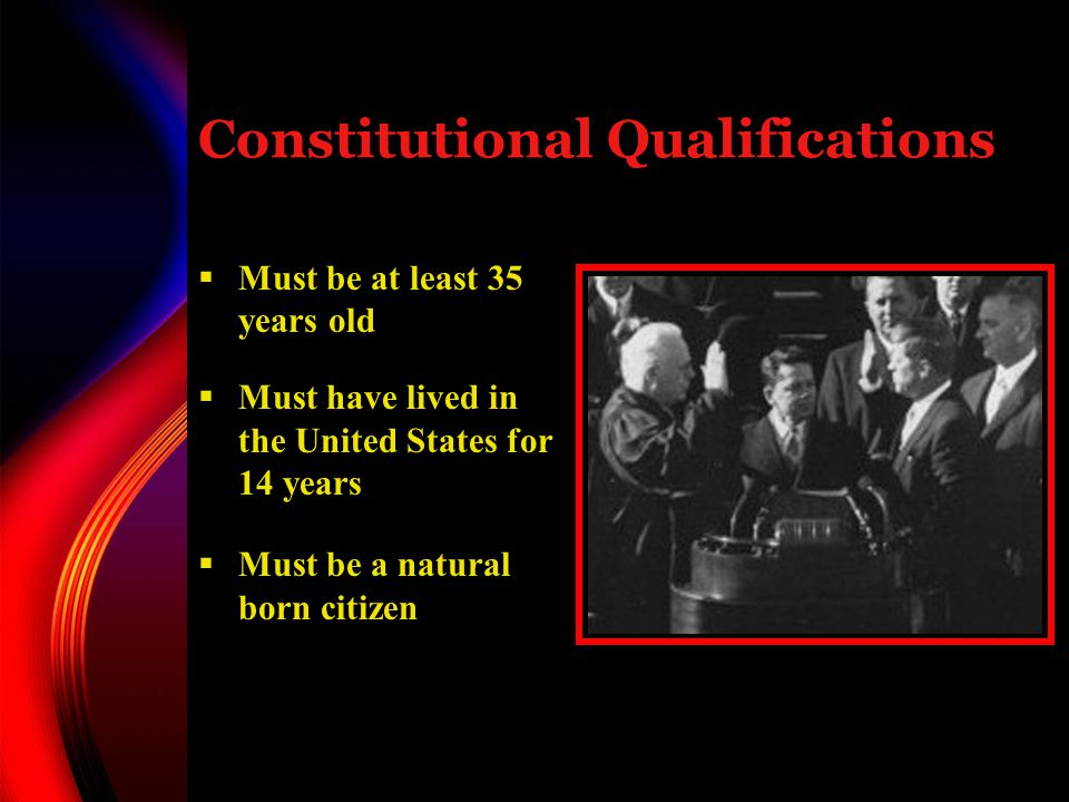 Constitutional Qualifications