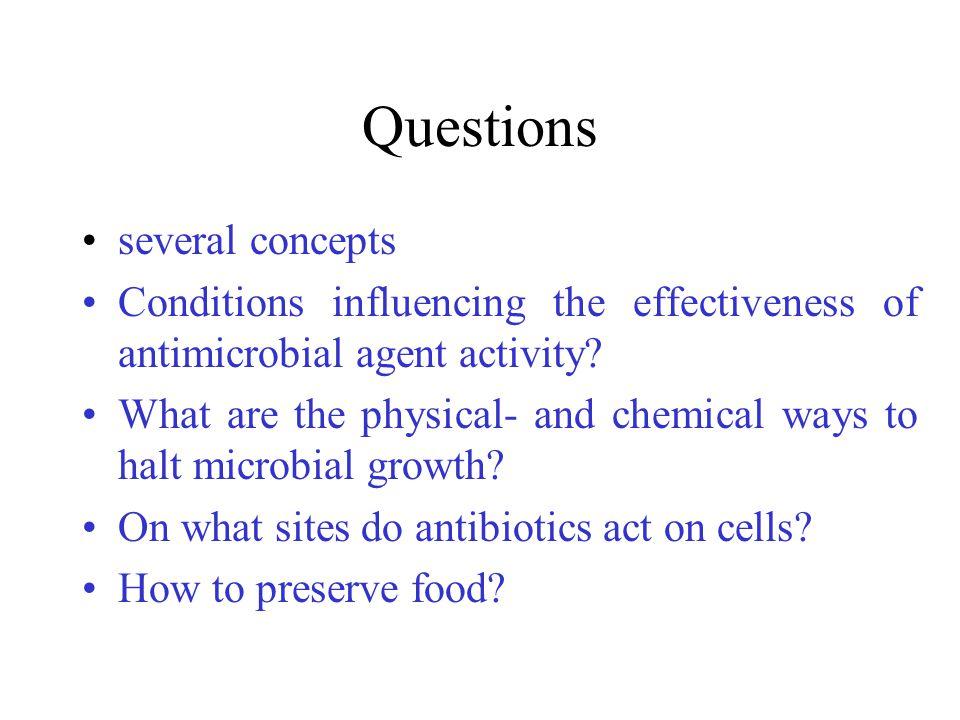 Questions • several concepts