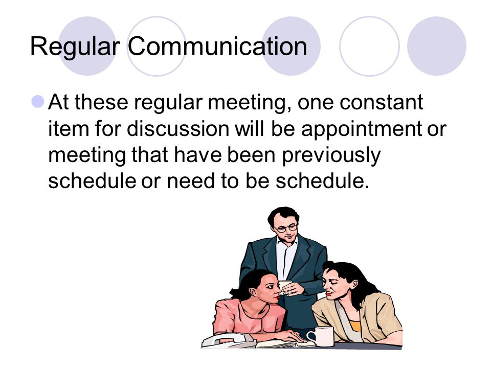 Regular Communication