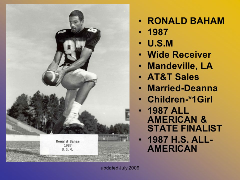 1987 ALL AMERICAN & STATE FINALIST