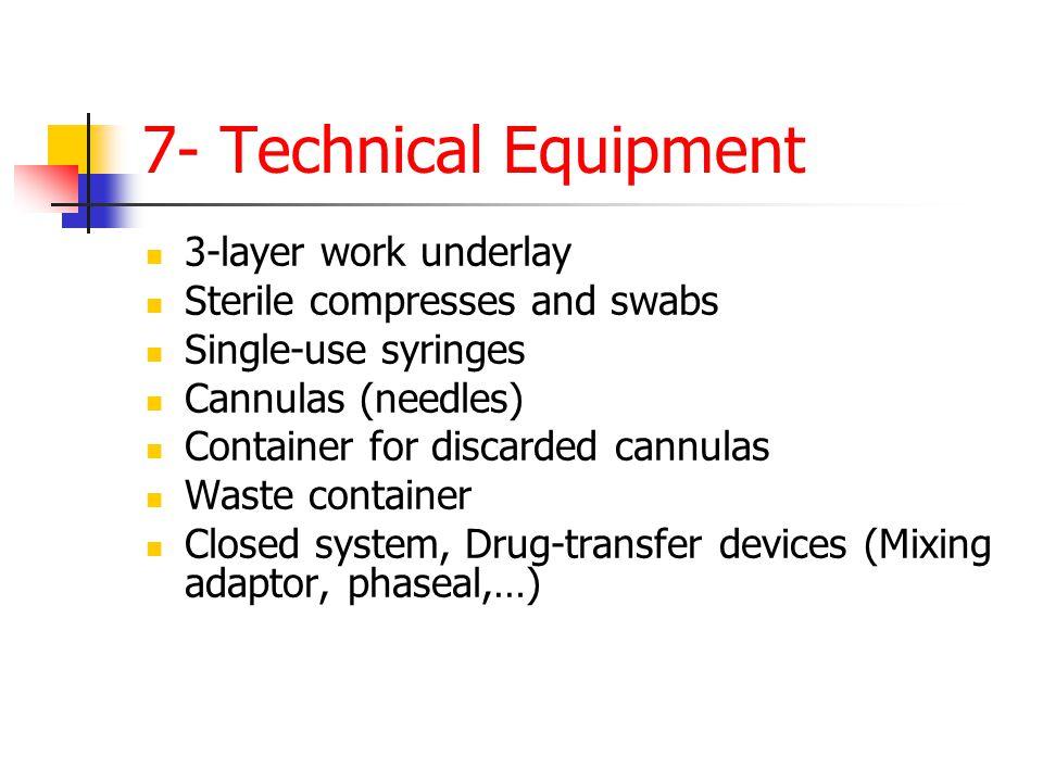 7- Technical Equipment 3-layer work underlay