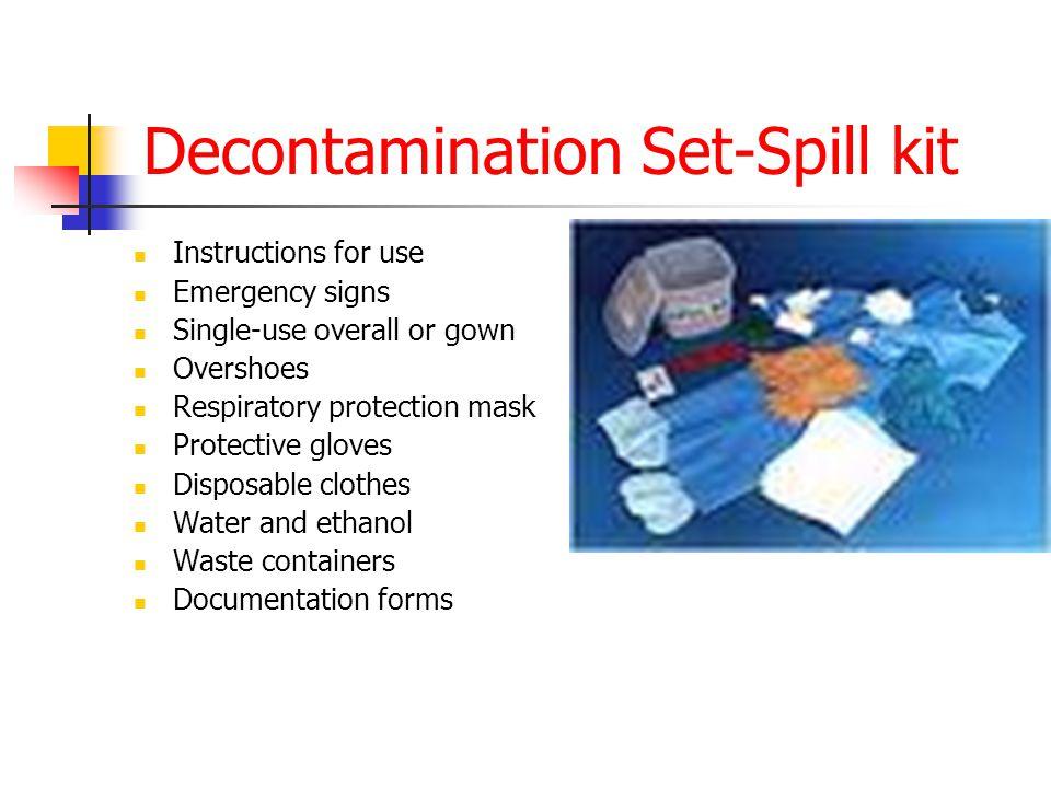 cytotoxic spill kit instructions