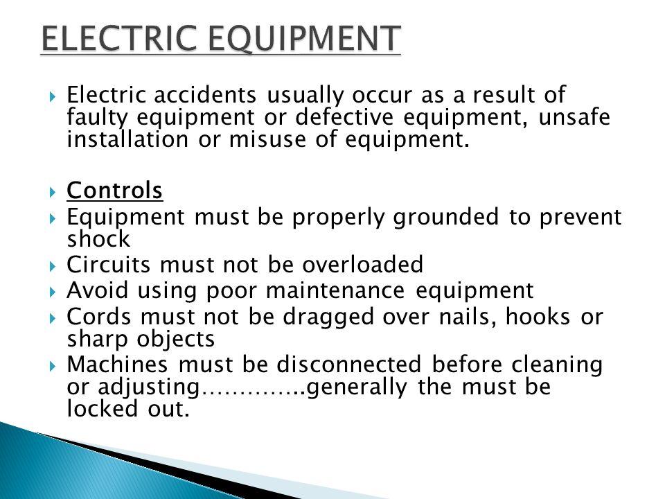 ELECTRIC EQUIPMENT