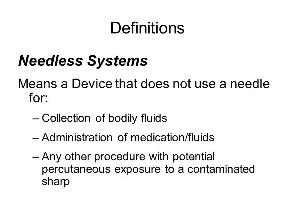 Definitions Needless Systems