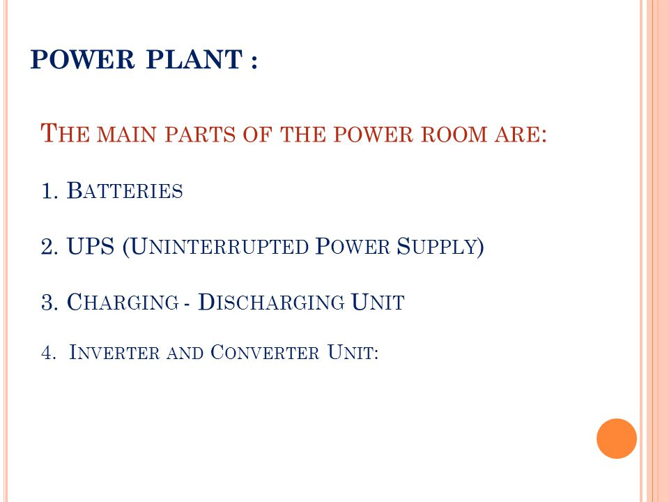 POWER PLANT :