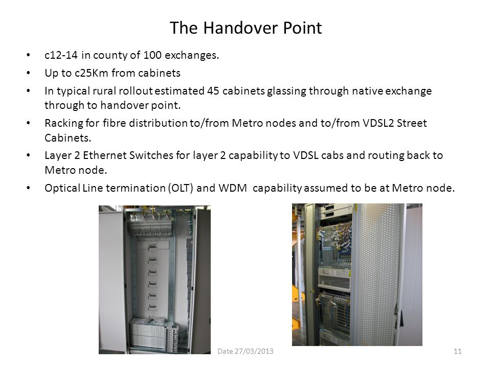 The Handover Point c12-14 in county of 100 exchanges.