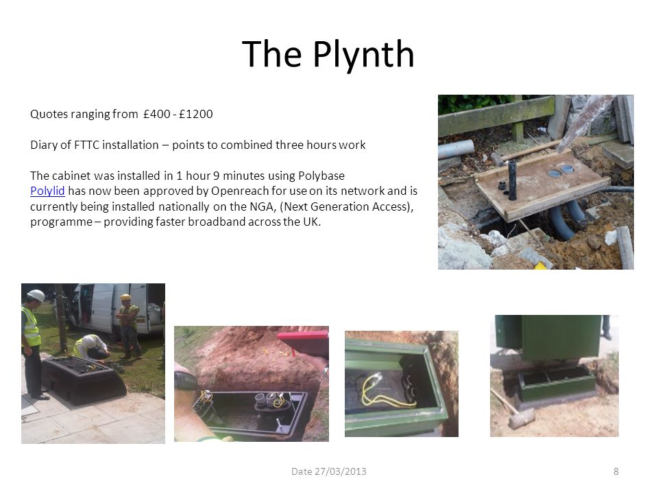 The Plynth Quotes ranging from £400 - £1200