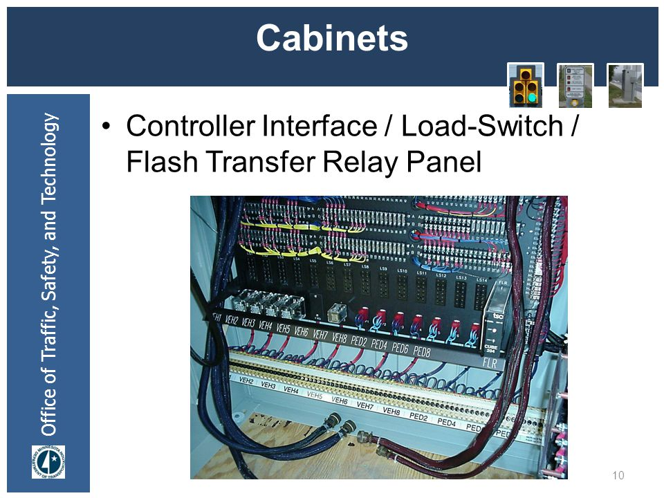 * 07/16/96 Cabinets Controller Interface / Load-Switch / Flash Transfer Relay Panel *