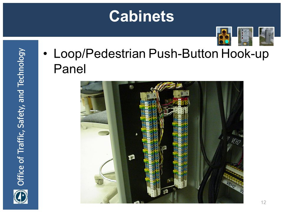 * 07/16/96 Cabinets Loop/Pedestrian Push-Button Hook-up Panel *